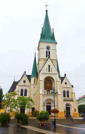 Catholic church in the center of Kaposvar, Hungary.