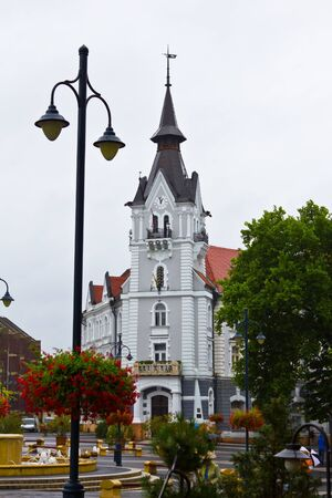 Town Hall in the center of Kaposvar, Hungary.