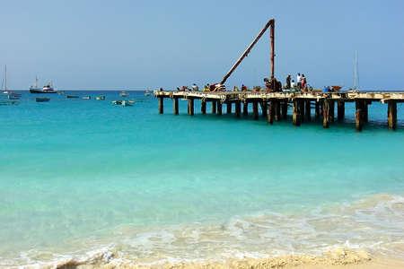 Santa Maria beach in Cape Verde Islands