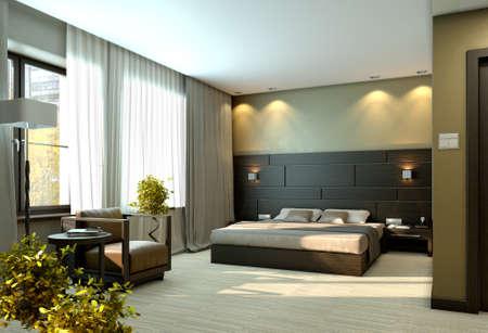 Modern luxury elegant bedroom interior