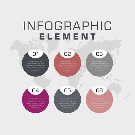 Illustration pour Business Infographic Element Premium Vector - image libre de droit