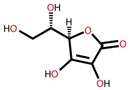 Ascorbic acid (vitamin C) structural formula