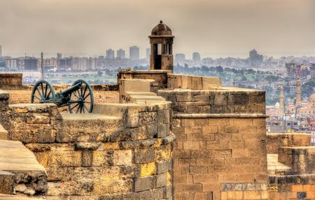 Walls of the Saladin Citadel of Cairo - Egypt
