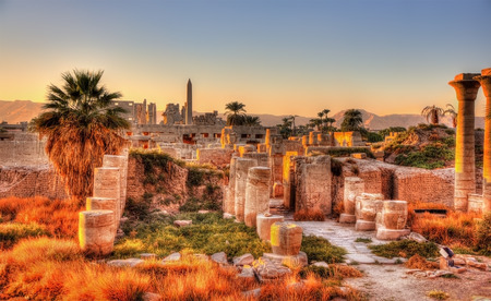 View of the Karnak temple in the evening - Luxor, Egypt