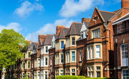 Foto de Typical residential brick houses in Cardiff, Wales - Imagen libre de derechos