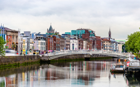 View of Dublin with the Ha'penny Bridge - Ireland