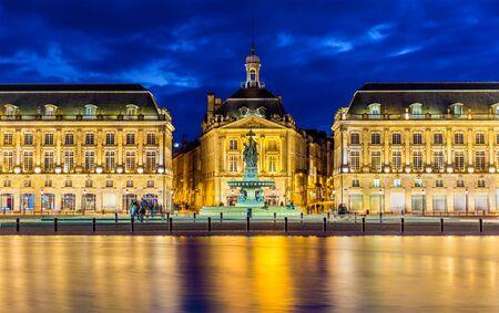 Photo for View of Place de la Bourse in Bordeaux - France - Royalty Free Image
