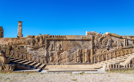 Ancient persian carving in Persepolis - Iran
