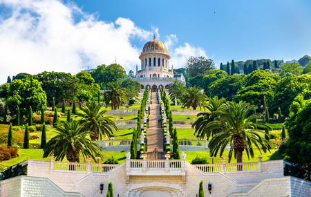 Photo for Shrine of the Bab and lower terraces at the Bahai World Center in Haifa, Israel - Royalty Free Image