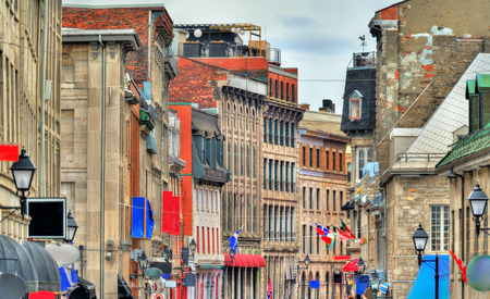 Historic buildings in Old Montreal - Quebec, Canada