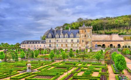 Chateau de Villandry, a castle in the Loire Valley of France