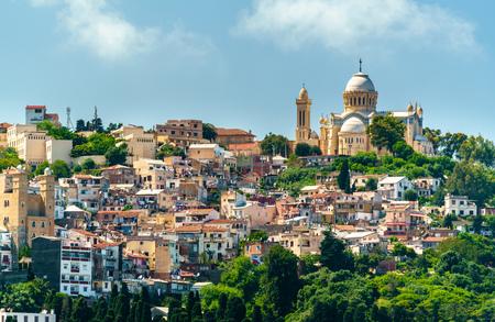 Photo pour Notre Dame dAfrique, a Roman Catholic basilica in Algiers, Algeria - image libre de droit
