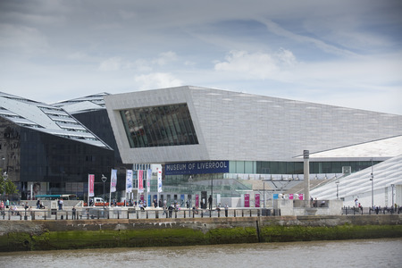 Liverpool, Merseyside, UK - 24th June 2014 - Skyline and the Museum of Liverpool