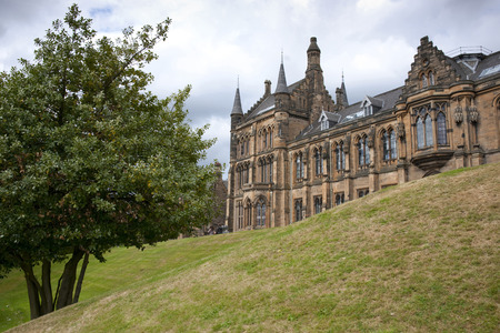 Glasgow, Scotland, 7th September 2013, the Main building and tower of the University of Glasgow at Gilmorehill