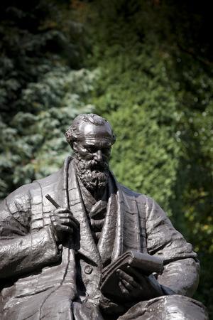 Kelvingrove Park, Glasgow, Scotland, United Kingdom, September 2013, Statue and Memorial to Lord Kelvin