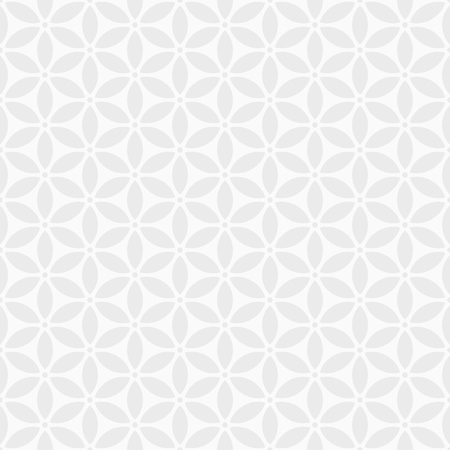 Abstract geometric seamless pattern. Modern stylish texture. Simple composition of stylized flowers. White and grey geometric texture. Contemporary graphic design. Structured vector background.
