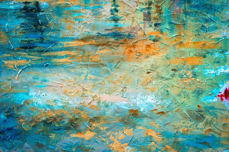 Photo pour abstract oil paint texture on canvas - image libre de droit