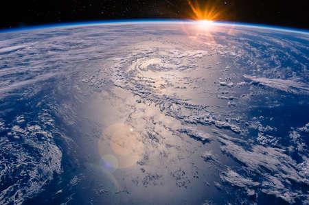 Foto de High altitude view of the Earth in space. - Imagen libre de derechos