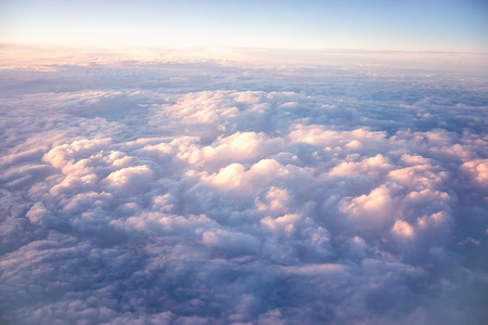 Photo pour view sky and clouds from an airplane. flying above the clouds. - image libre de droit