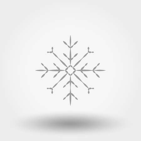 Snowflake icon on white background, vector illustration.のイラスト素材