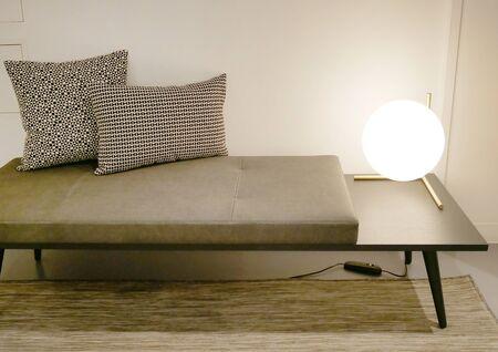 Photo pour colorful sofa with cushions - image libre de droit