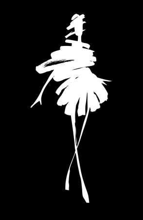 Illustration pour Fashion woman sketch - image libre de droit