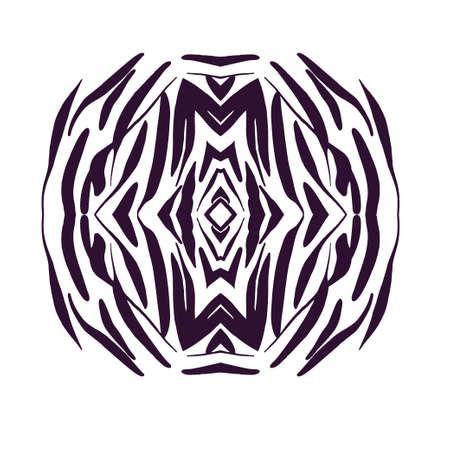 Illustration for Design element hand drawn . Vector monochrome illustration for card design. - Royalty Free Image