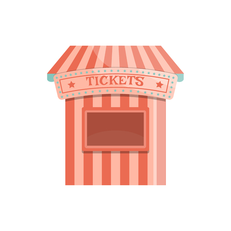 Cartoon ticket office icon. Isolated vector illustration.