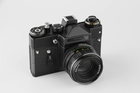 film camera on a white background