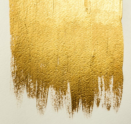 Foto de Gold acrylic brushstrokes background - Imagen libre de derechos