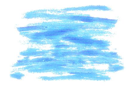 Illustration pour Blue brush strokes background as painted. Vector illustration. Modern background for posters, brochures, sites, web, cards, interior design - image libre de droit