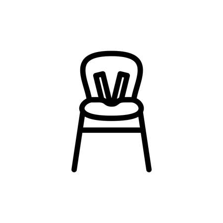 Baby Highchair Thin Line Icon Outline Symbol Kid High Chair For