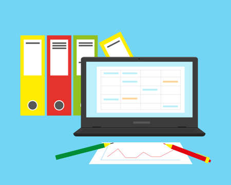 Foto für Accounting, financial analysis or business audit concept. Flat vector illustration. - Lizenzfreies Bild