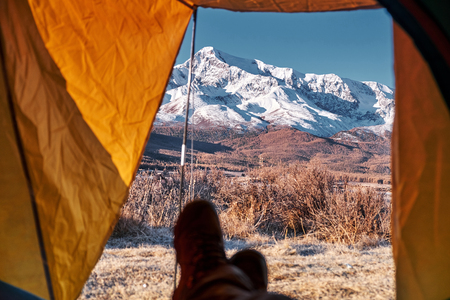 Tent lookout on a Camp in the mountains