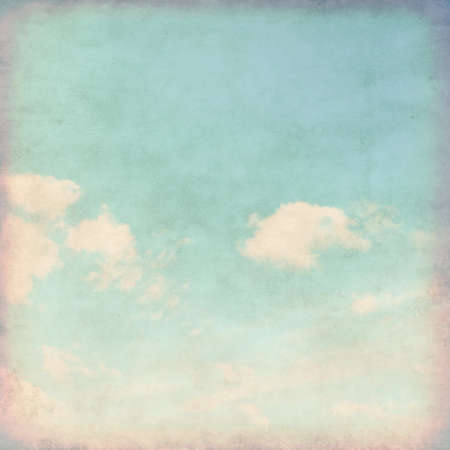 Grunge background of blue sky.