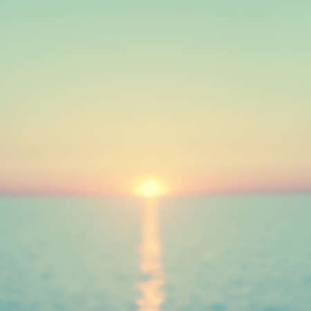 Abstract blurred seascape at sunset. Vintage style.