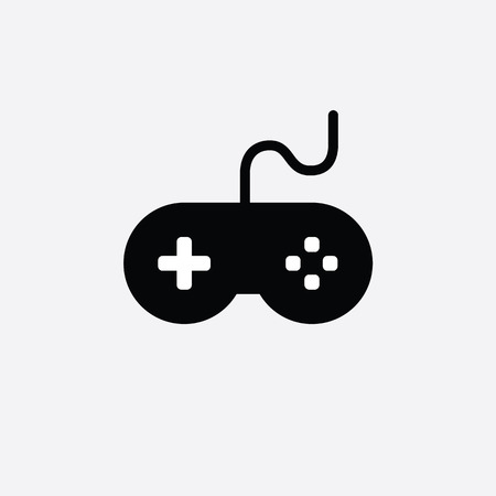 game console icon. video gaming joystick. vector