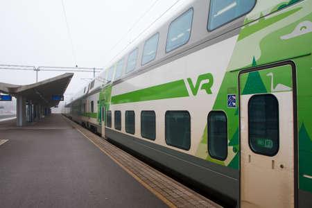 Photo pour Kouvola, Finland 31 March 2016 - Kouvola railway station. - image libre de droit