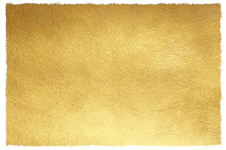 Photo pour Golden background with uneven, brush drawn edges. Gold texture. Luxurious paper template for your design. - image libre de droit