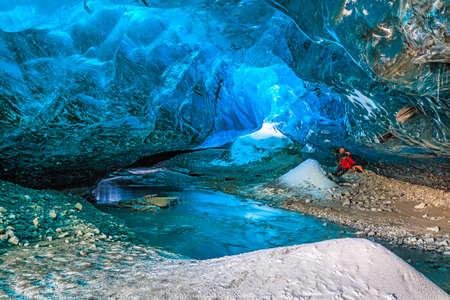 Ice Cave in Vatnajokull, South Iceland
