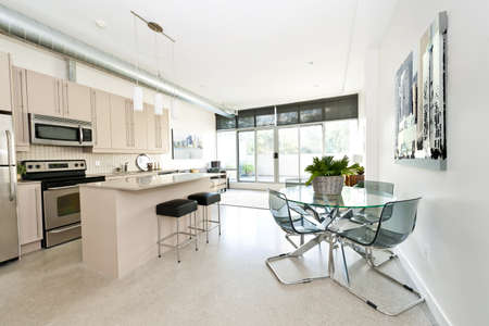 Kitchen, dining and living room of apartment - artwork from photographer portfolio