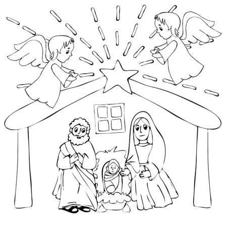 Baby Jesus Coloring Pages - Best Coloring Pages For Kids | 450x450
