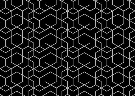 Photo pour Abstract geometric pattern with stripes, lines. A seamless background. Black and white texture - image libre de droit