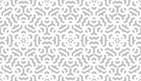 Photo pour Abstract geometry pattern in Arabian style. Seamless background. White and grey graphic ornament. Simple lattice graphic design. - image libre de droit