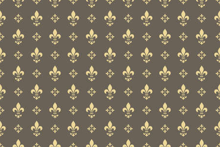 Illustration pour Wallpaper in the style of Baroque. Seamless vector background. Gold and grey floral ornament. Graphic pattern for fabric, wallpaper, packaging. Ornate Damask flower ornament - image libre de droit
