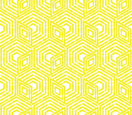 Illustration pour Abstract geometric pattern. A seamless vector background. White and yellow ornament. Graphic modern pattern. Simple lattice graphic design - image libre de droit