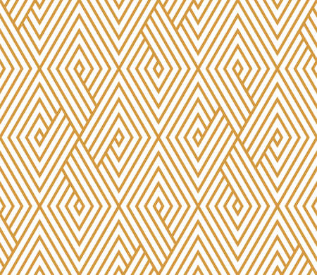 Photo pour Abstract geometric pattern with stripes, lines. Seamless vector background. White and gold ornament. Simple lattice graphic design - image libre de droit
