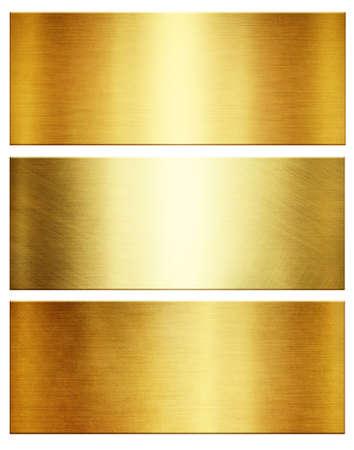 Photo pour Gold of polished metallic textures. Shiny metal collection - image libre de droit