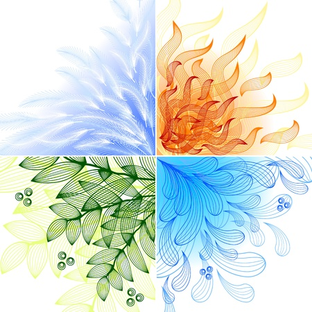 Ilustración de 4 elements. Set of four beautiful backgrounds - Imagen libre de derechos