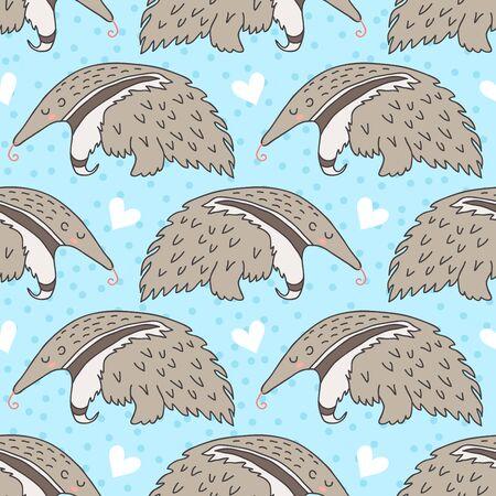 Illustration pour Cute sleeping anteater - image libre de droit